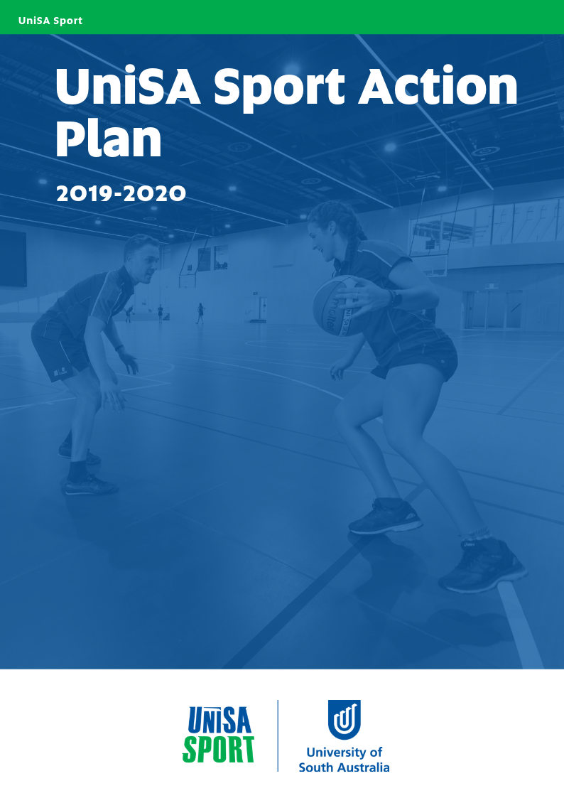 UniSA Sport Action Plan 2019-2020 Front Cover